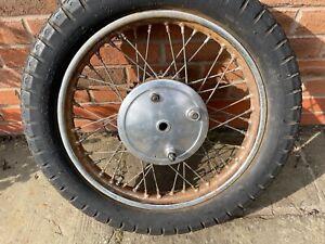 BSA A10 A7 Used Original Rear Wheel C/W Brake Plate & Sprocket