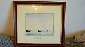 ORIGINAL WATERCOLOUR PAINTING BY ALAN TAIT OF THE S.V MIR TALL SHIPS RACE 1993