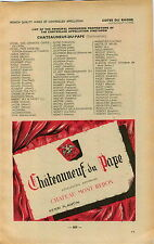 ADVERT Vineyard Wine Cotes du Rhone Chateauneuf du Pape Chateau Mont Redon Croze