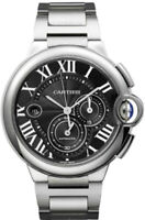 Brand New W6920025 Cartier Ballon Bleu Black Dial Chronograph Men's Watch
