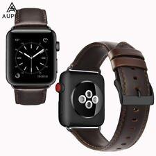 Genuine Leder Uhrenarmband Ersatzband Strap Für Apple Watch Series 3/2/1 42mm DE