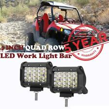 "4"" CREE LED Work Light Bar Quad-Row 240W Spot Beam Offroad Driving Lamp Backup"