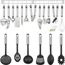 Attrezzi per cucina in acciaio inox set con 19 parti utensili posate cucchiaio
