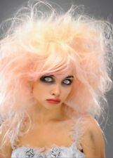Femme blonde et rose zombie reine de beauté Perruque