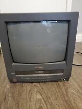 """Sharp 13"""" CRT Television TV/VCR Combo 13VT-R100 No Remote CRT GAMING (TESTED)"""