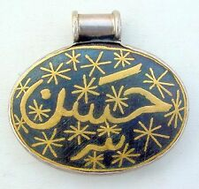24K GOLD FILIGREE SILVER PENDANT RAJASTHAN INDIA
