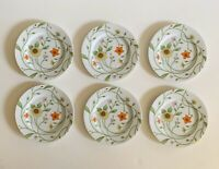 "FITZ & FLOYD Petite Fleur Salad Luncheon Plates 1974 EUC Japan 9 1/4"" ~ Set of 6"