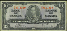 Bank of Canada 1937 $10 Ten Dollars Gordon-Towers M/D Prefix King George VI VF