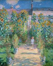 The Artist's Garden at Vétheuil 1880 by Claude Monet 75cm x 59.3cm Canvas Print