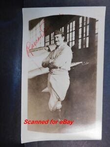 1930s Signed Rosco Turner in hanger next to His Airplane Cleveland Air Race 651