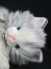 Big Lifelike Vintage Target Gray White Long Hair Himalayan Persian Cat Plush