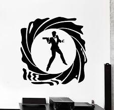 Wall Vinyl Decal James Bond 007 Spy British Secret Service Interior Decor z4028