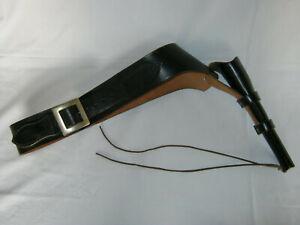 Schwarzer Gürtel mit Pistolenholster aus Leder Cowboygürtel Westerngürtel