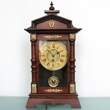 JUNGHANS LARGE Mantel Clock TOP! Condition! 1880s Antique Germany BRASS Features
