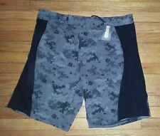 Epic MMA Gear Shorts Training 40x11 Black Charcoal Gray Camo Pattern NWT p3058
