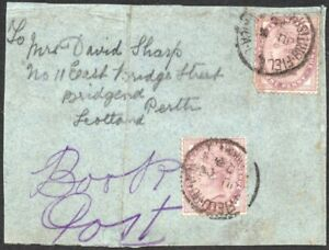 South Africa British Army 1900 FIELD P.O. postmarks on 1d piece, SG.Z1