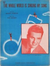 The Whole World Is Singing My Song, Jack Smith, 1946, vintage sheet music