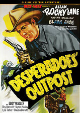 DESPERADOES' OUTPOST - ROCKY LANE- 1952  REPUBLIC DVD B WESTERN