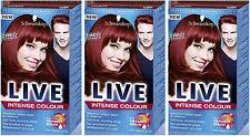 Schwarzkopf LIVE Intense 043 Red Passion Pro Permanent Hair Colour Dye x 3
