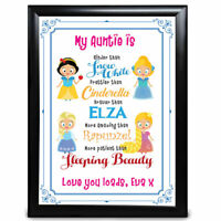 Personalised Gifts Aunty Birthday Aunt Auntie Framed Card Present Gift Princess