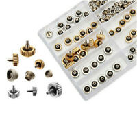 60PCS Watch Crown Repair Parts 5.3mm 6.0mm 7.0mm with Tube O-ring and Gasket