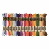 DMC Stranded Cotton Cross Stitch Thread Skein Mouline Colours 605 to 730 8m