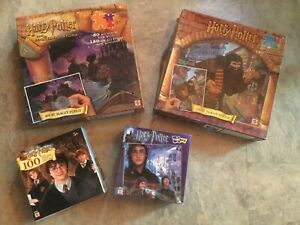 4 Lot Harry Potter Puzzles 2000 01 02 2003 and Sorcerer's Stone Magic Decoder