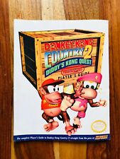 Donkey Kong 2 SNES Super Nintendo Players Power Strategy GUIDE Authentic Officia