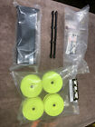 1/8 TLR 8ight X Lot! 4 Yellow Rims, 1 Clear Wing & 1 Black Wing! New kit Pulls!