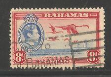 Bahamas #108 (A15) VF USED - 1938 8p Flamingos In Flight - KGVI