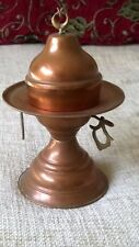 vintage copper incense burner middle eastern / Turkish star & crescent