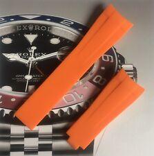 HQ Aftermarket Orange Rubber Strap For Rolex Submarine, GMT,Daytona 20mm