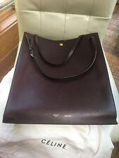 Celine Burgundy Large Vertical Cabas Leather Tote Large Bag