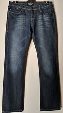 "WOMEN'S JEANS ROCK & REPUBLIC STRAIGHT STRETCH SIZE 13 LEG 34"" FREE POSTAGE"