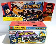 Repro Batman 1966 Corgi 267 Batmobile Diecast Model Grey Card Box with Extras