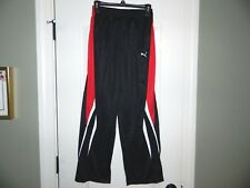 Boy's Puma Black & Red Athletic Pants Size Large-NWT