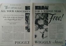 1931 Piggly Wiggly stores groceries for whole year vintage 2 page ad