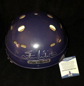 Stan Mikita Signed Northland Replica Helmet Chicago Blackhawks Beckett Certified