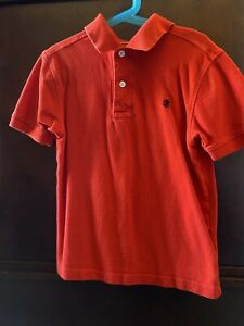 Izod Boys Red Short Sleeve Golf Polo Collared Shirt Size Small 8 Pre Owned