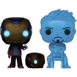 Avengers 4 - Hologram Tony Stark & Morgan with Helmet Glow in the Dark Pop! [RS]