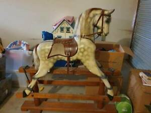 Handmade almost 30 year old rocking horse