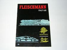 Fleischmann Katalog 1967/68 mit Auto-Rallye + Dampfmaschinen top Zustand