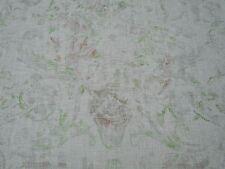 "Ralph Lauren RIDEAU TISSU ""Old Hall Floral' 2.5 mètres ROSE VINTAGE 100% lin"