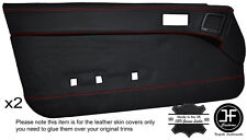 RED STITCH 2X FULL DOOR CARD LEATHER COVER FITS MAZDA RX7 FC 1986-1988