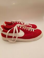 NIKE Red Suede Trainers Mens/Ladies Size 7 Uk