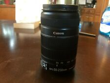 Canon Zoom Lens EF-S 55-250mm 1:4-5.6 IS II Camera Lens Image Stabilized Auto