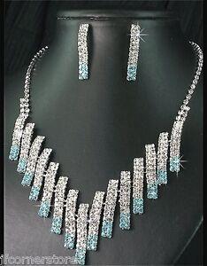 BRIDAL/WEDDING  Crystal/Diamonte Necklace Set **137**