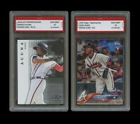 RONALD ACUNA JR/OZZIE ALBIES 2018 TOPPS/LF 1ST GRADED 10 ROOKIE CARD LOT BRAVES