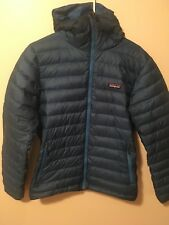 Patagonia Down Sweater Hoody Mens M Blue