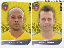 534 GUILMOT - DELBEEKE BELGIQUE RFC.TOURNAI STICKER FOOTBALL 2009 PANINI